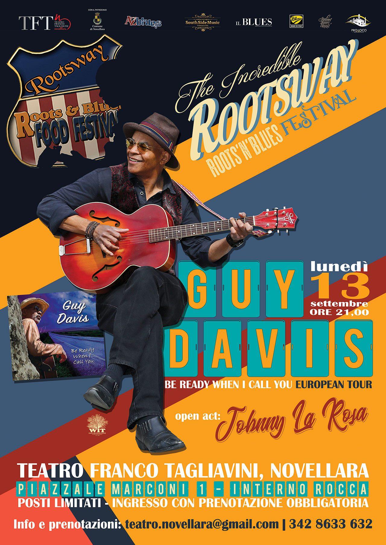 Rootsway presenta Guy Davis in concerto